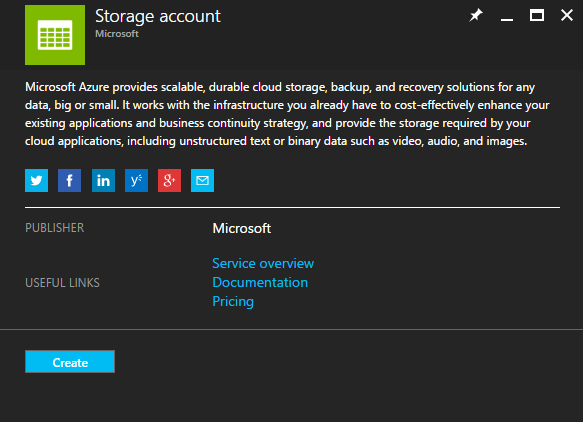 Azure Storage Account