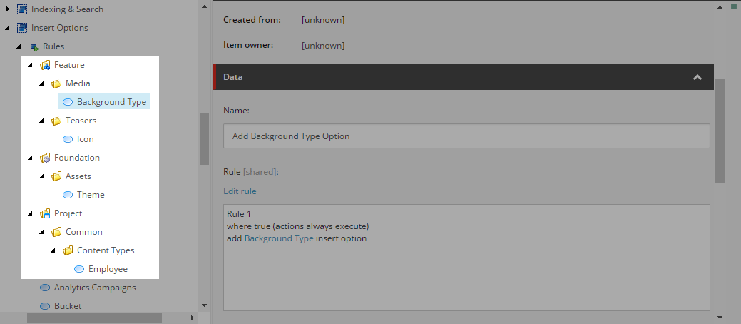 Sitecore - Organize Your Insert Options Rules