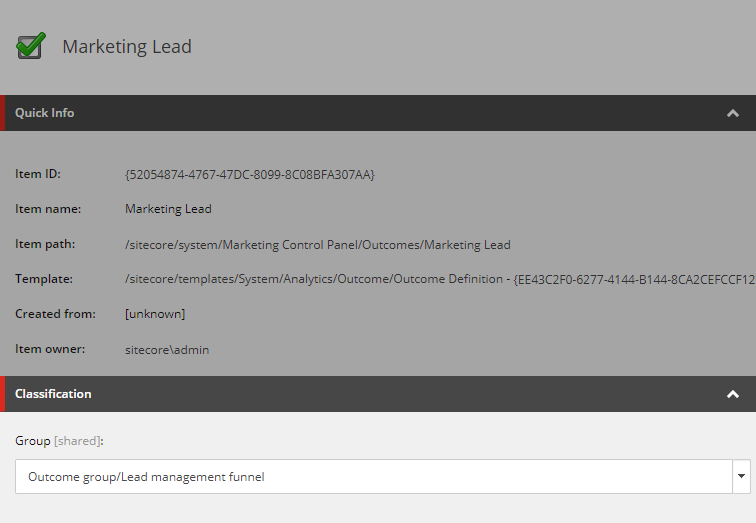 Built-In Marketing Lead Outcome