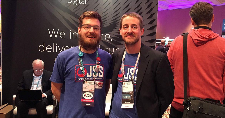 Nick Wesselman and me at Sitecore Symposium in Las Vegas, 2017